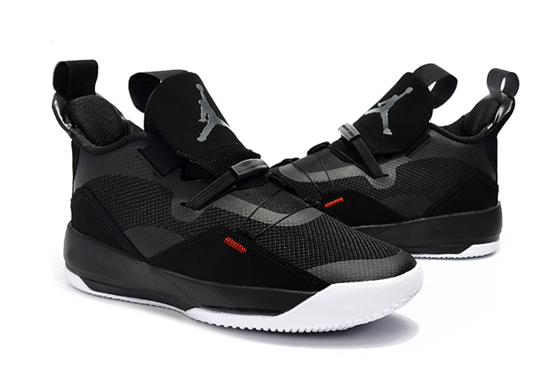 Women Air Jordan 33 Black White Shoes