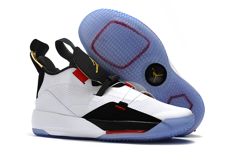 Women Air Jordan 33 White Black Red Shoes