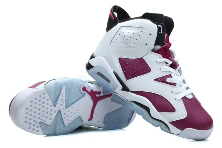 Women Air Jordan 6 Grape Purple Shoes