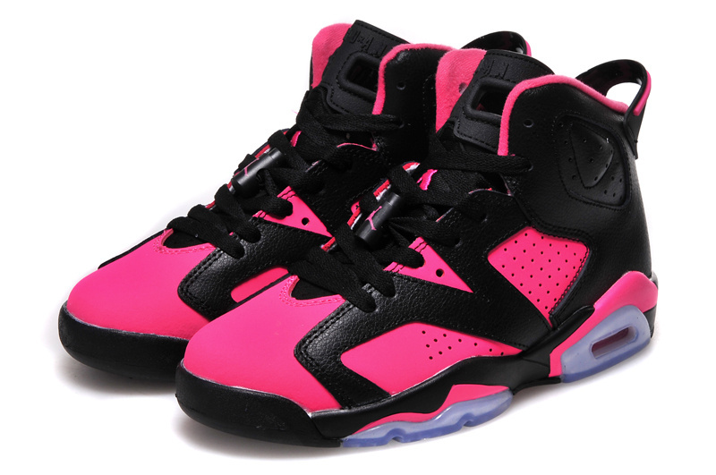 2016 Air Jordan 6 GS Pink Black Shoes
