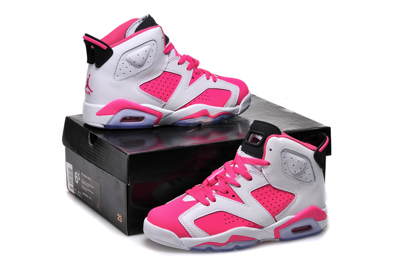 2016 Air Jordan 6 GS White Pink Shoes