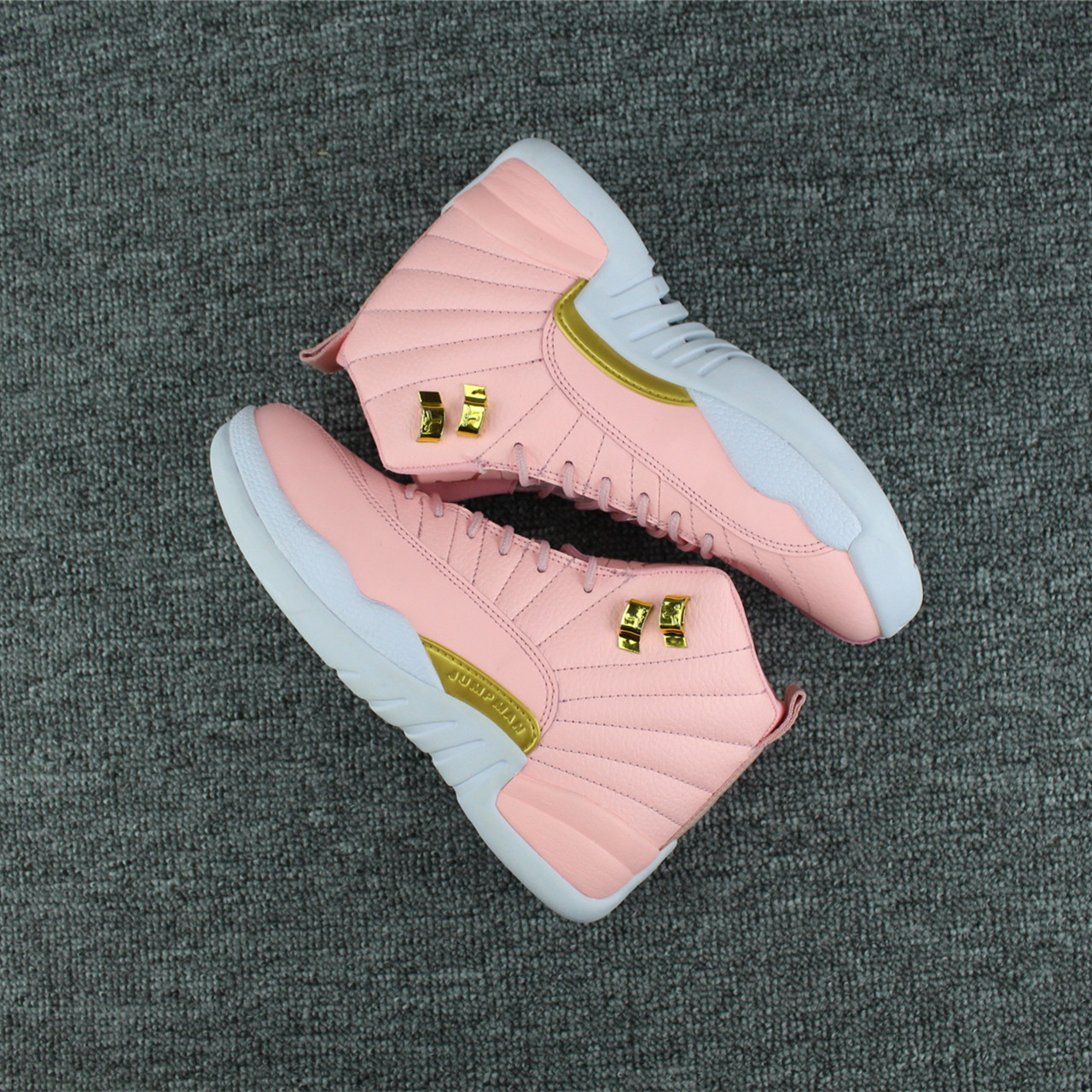 Women Jordans 12 Trendy Pink Shoes