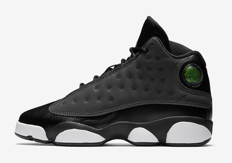2017 jordan 13 gs black hyper peach white shoes