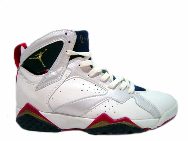 air jordan 7 original olympics white navy silver true red