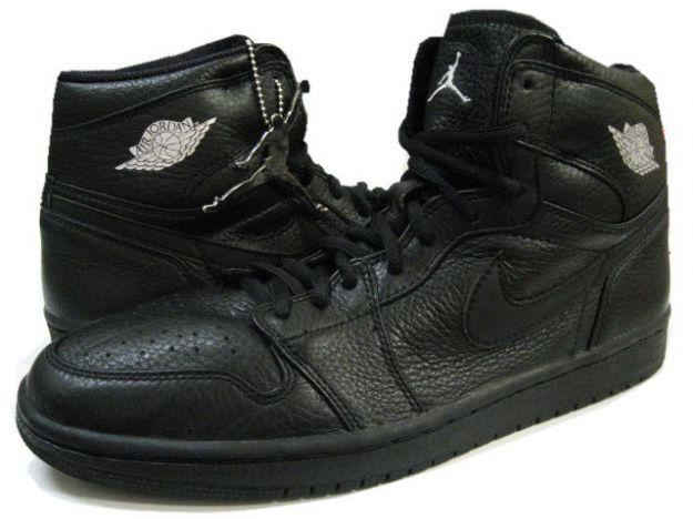Cheap Air Jordan I Retro 2001 All Black Metallic Silver
