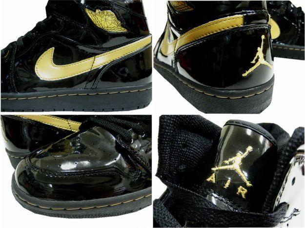 air jordan 1 retro black metallic gold for sale