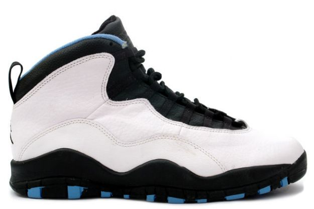 air jordan 10 original charlotte hornets white black dark powder blue shoes