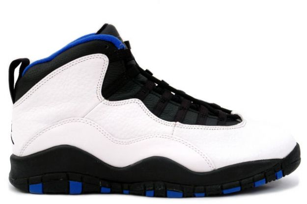 air jordan 10 original new york knicks white black royal blue orange flame shoes