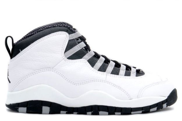 air jordan 10 original steels white black light steel grey shoes