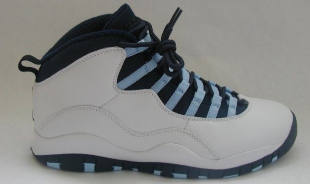 blue and white jordan 10