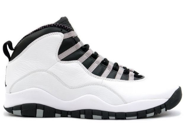 air jordan 10 retro steels white black light steel grey shoes
