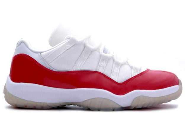 air jordan 11 retro low white varsity red shoes