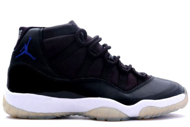 air jordan 11 retro space jams black varsity royal white shoes