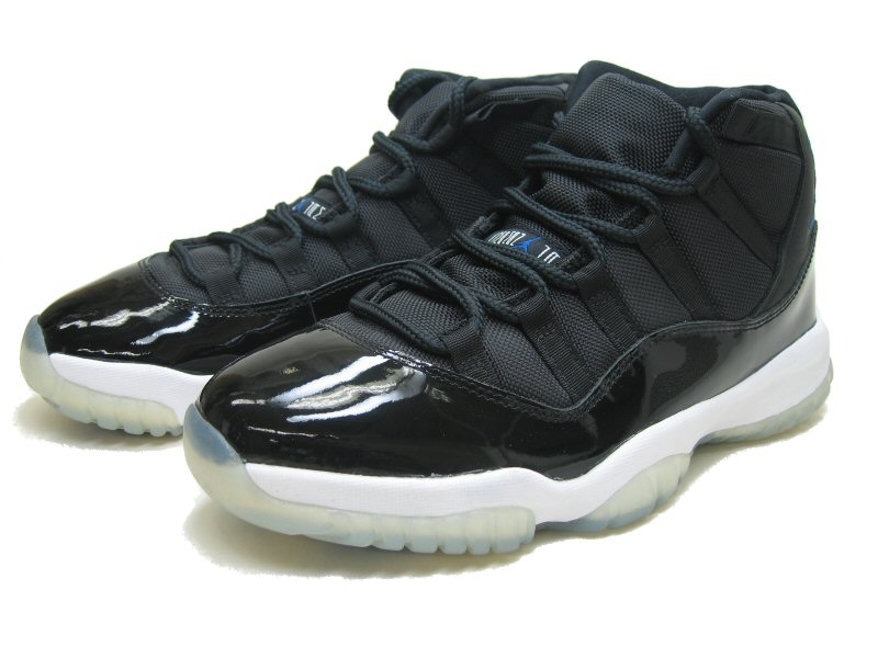 air jordan 11 retro space jams black white shoes
