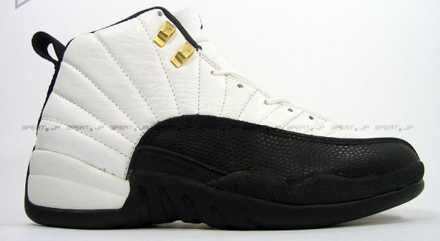 Air Jordan 12 Original Taxi White Black Gold Shoes Sold At Low Price