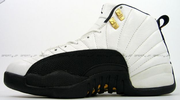 air jordan 12 original taxi white black gold shoes