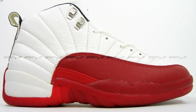 air jordan 12 red and white