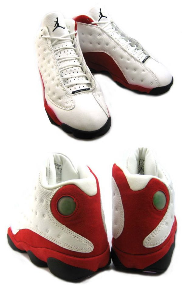 air jordan 13 original white black true red pearl shoes