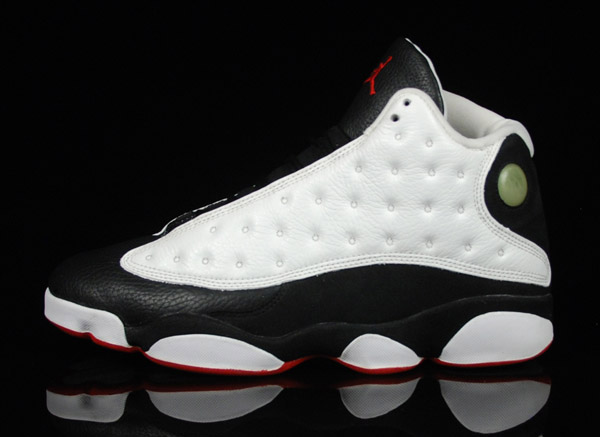 air jordan 13 original white true red black shoes