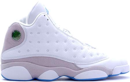 air jordan 13 retro white grey university blue shoes