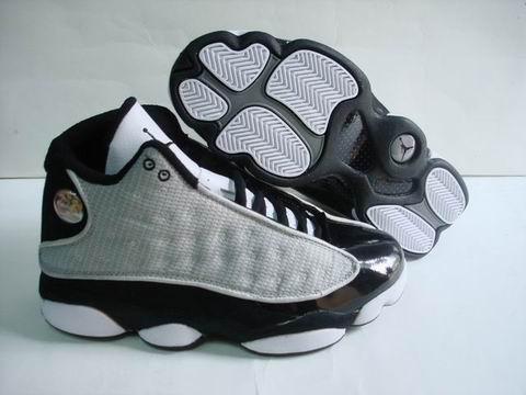 air jordan 13 retro white lgrey black shoes