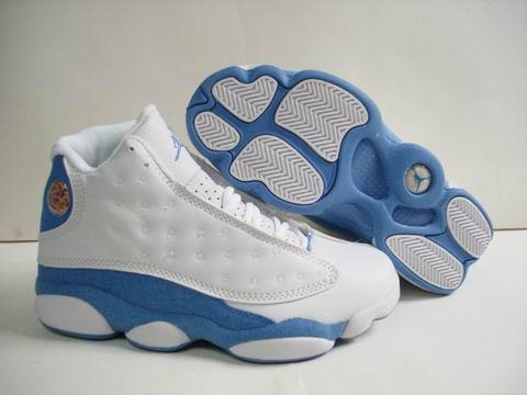air jordan 13 blue and white