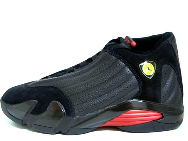 Original Air Jordan 14 Final Last Shot Black Varsity Red Shoes