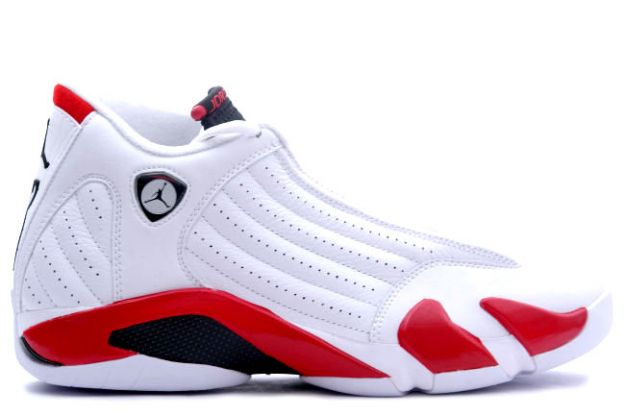 air jordan 14 retro white black varsity red shoes