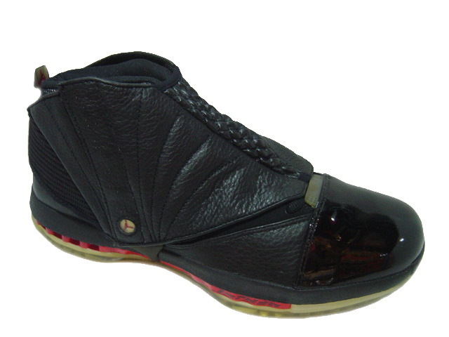 original air jordan 16 black varsity red shoes