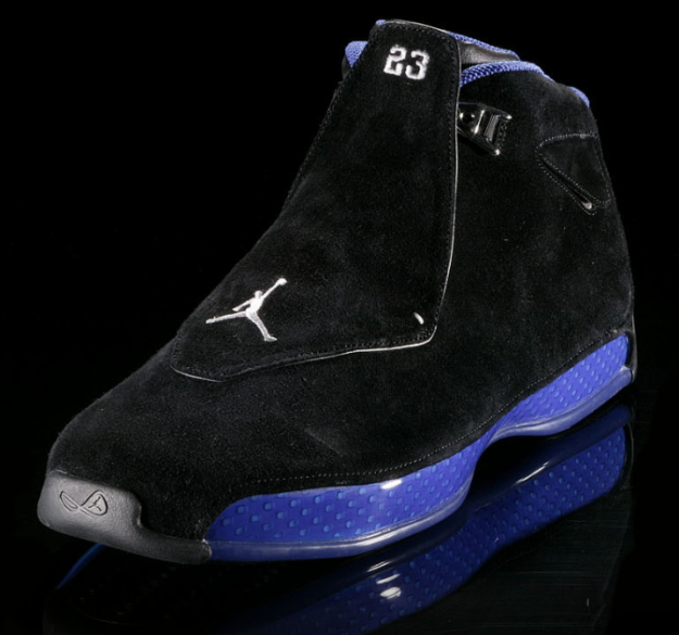 original air jordan 18 black royal blue shoes