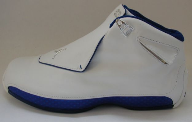 original air jordan 18 white roya blue shoes