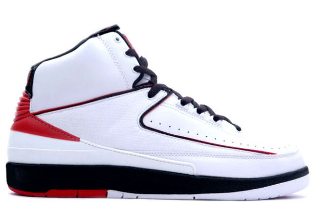 Authentic Air Jordan 2 Retro White Varsity Red Black Shoes