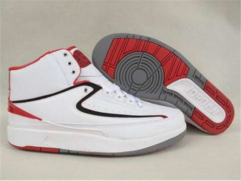 Authentic Air Jordan 2 Retro White Varsity Red Shoes