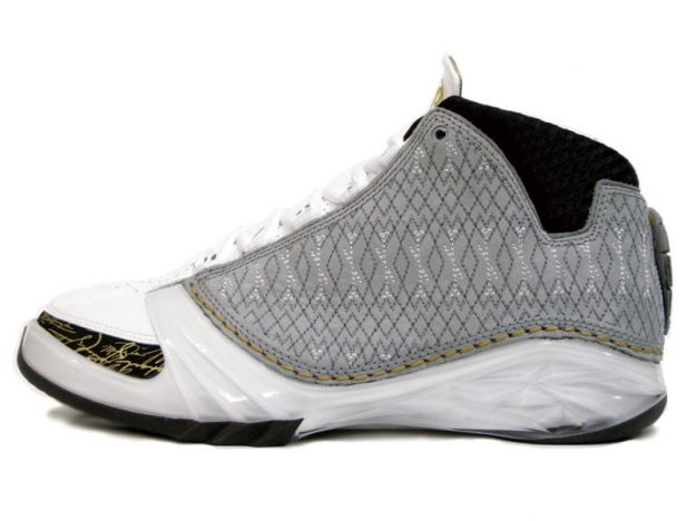 Air Jordan 23 White Stealth Black Metallic Gold Shoes