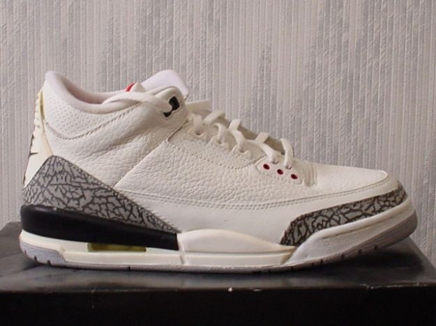 Authentic Air Jordan 3 Retro 1994 White Cement Grey Shoes