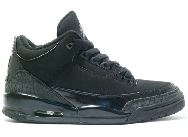 Authentic Air Jordan 3 Retro All Black Cat Charcoal Shoes