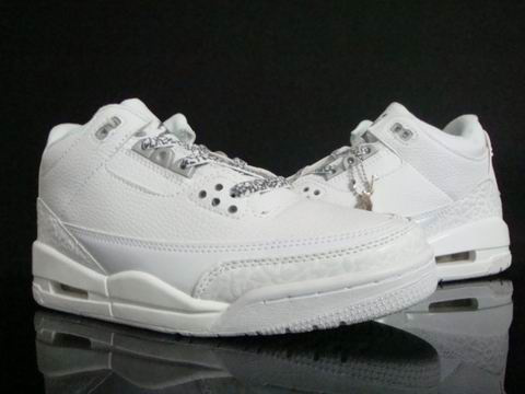 Authentic Air Jordan 3 Retro All White Shoes