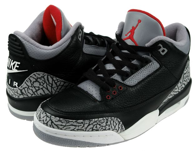 Authentic Air Jordan 3 Retro Black Cement Grey Shoes