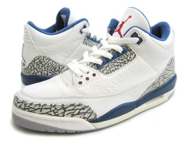 Authentic Air Jordan 3 Retro White True Blue Shoes