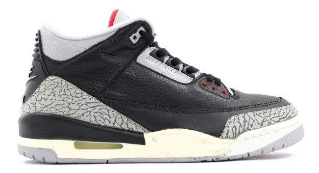 Authentic Air Jordan 3 Retro Black Cement Grey Countdown Pack Shoes