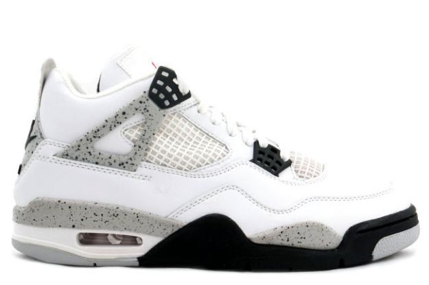air jordan 4 retro 1999 white black cement shoes for sale online