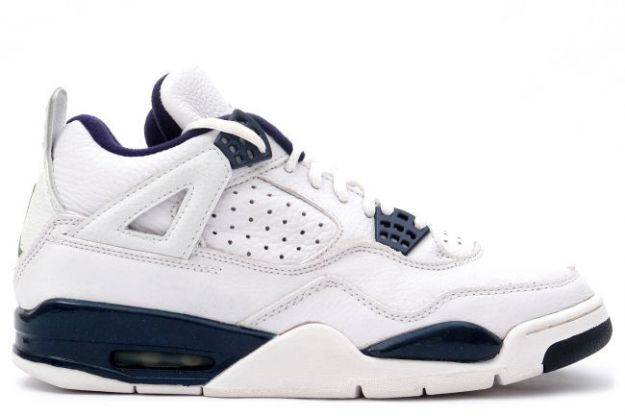 air jordan 4 retro 1999 white columbia blue midnight navy shoes for sale online
