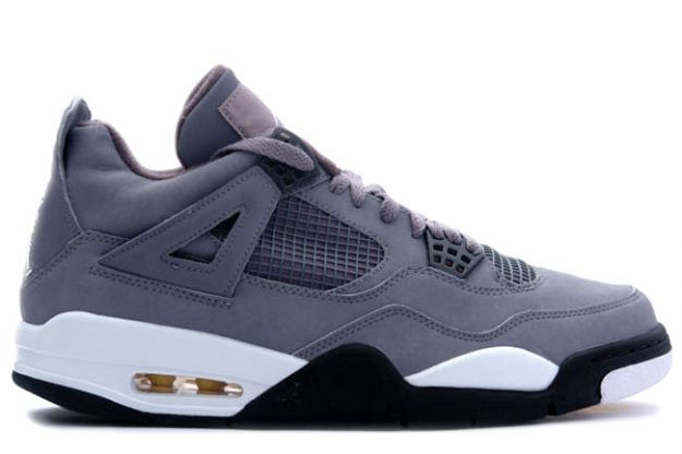 air jordan 4 retro cool grey chrome dark charcoal varsity maize shoes for sale online