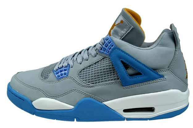 air jordan 4 retro mist blue university blue gold leaf white shoes for sale online