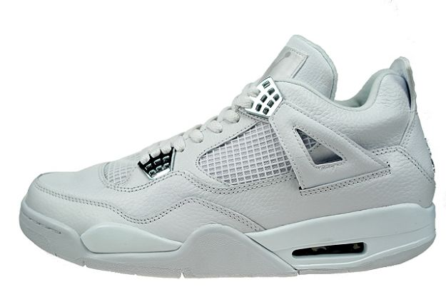 air jordan 4 retro pure money white metallic silver shoes for sale online