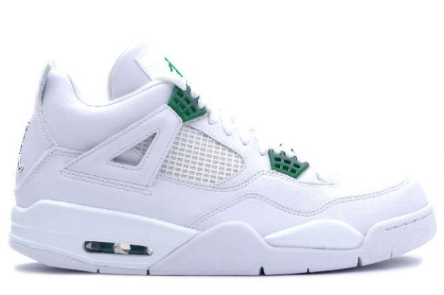 air jordan 4 retro white chrome green shoes for sale online