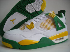air jordan 4 retro white green yellow shoes for sale online