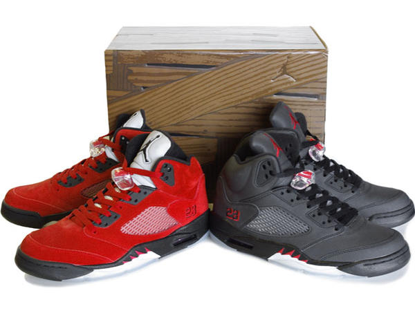 Air Jordan 5 Raging Bull Pack Varsity Red Black Package On Sale