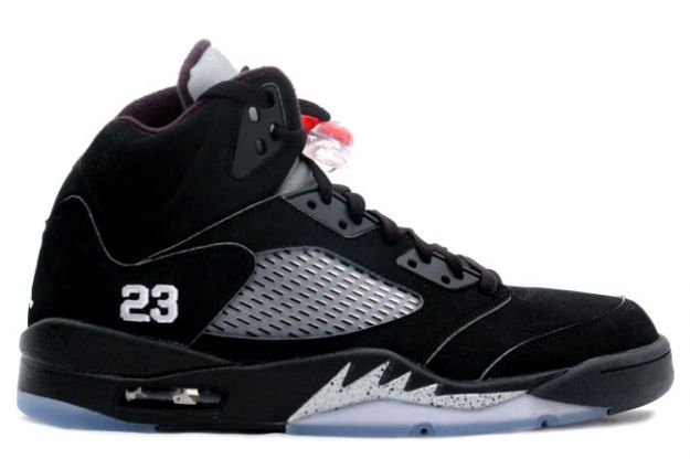 air jordan 5 retro black metallic silver shoes for sale online