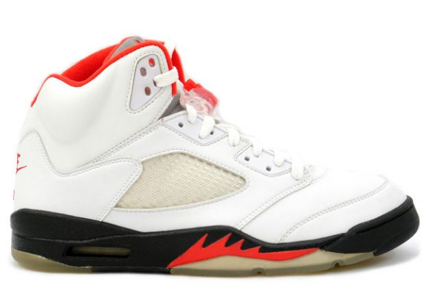 air jordan 5 retro fire red white black fire red shoes for sale online